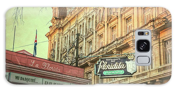 Galaxy Case featuring the photograph El Floridita Havana Cuba by Joan Carroll