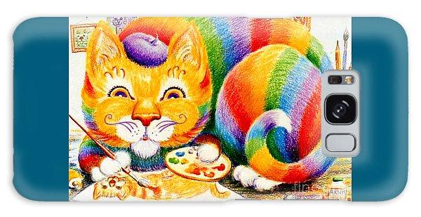 el Gato Artisto Galaxy Case by Dee Davis