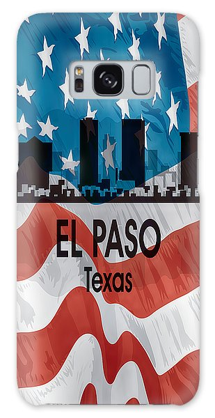 El Paso Tx American Flag Vertical Galaxy Case