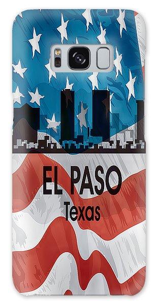 El Paso Tx American Flag Vertical Galaxy Case
