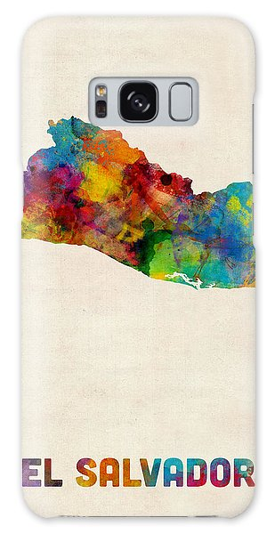 El Salvador Watercolor Map Galaxy Case