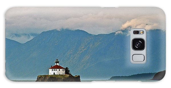 Eldred Rock Lighthouse Skagway Galaxy Case by Michael Peychich