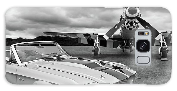 Fighter Galaxy Case - Eleanor Mustang With P51 Black And White by Gill Billington