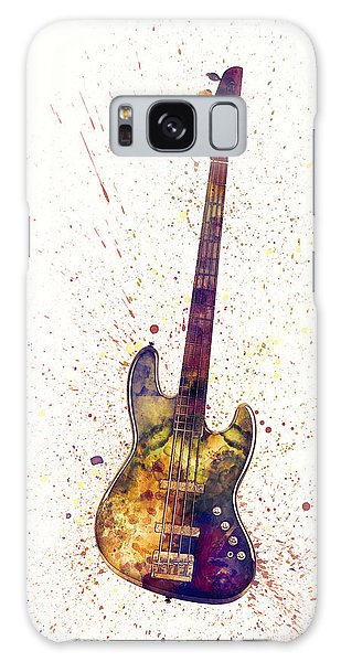 Guitar Galaxy Case - Electric Bass Guitar Abstract Watercolor by Michael Tompsett