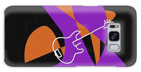 Electric Bass In Purple Galaxy Case