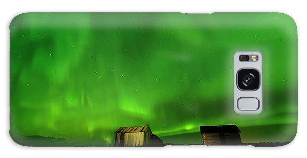 Electric Green Skies Galaxy Case