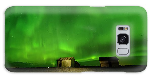 Electric Green Skies Galaxy Case