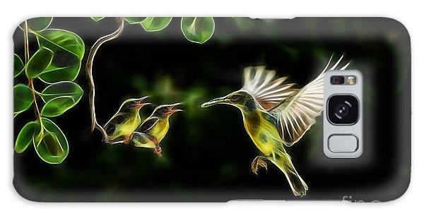 Electric Hummingbird Wall Art Collection Galaxy Case