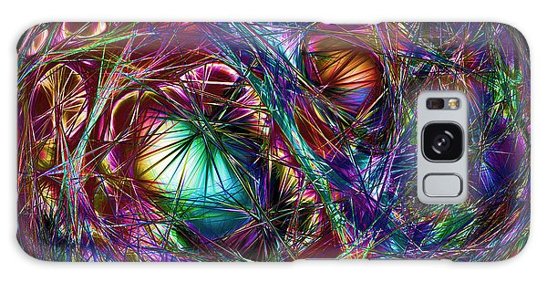 Electric Neon Abstract Galaxy Case