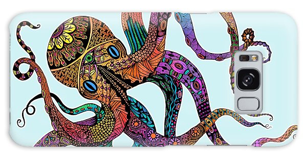 Electric Octopus - Customizable Background Galaxy Case