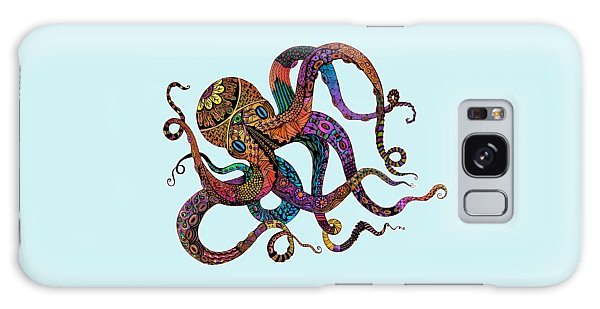 Electric Octopus - Customizable Background Galaxy Case by Tammy Wetzel
