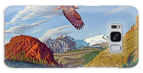 Montana Galaxy Case - Electric Peak With Hawk by Paul Krapf