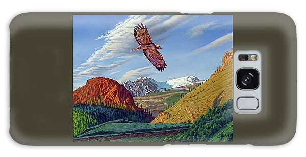 Hawk Galaxy Case - Electric Peak With Hawk by Paul Krapf