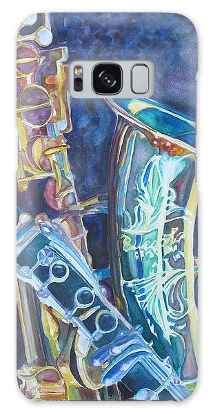 Saxophone Galaxy S8 Case - Electric Reeds by Jenny Armitage