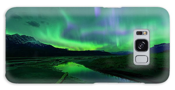 Electric Skies Over Jasper National Park Galaxy Case