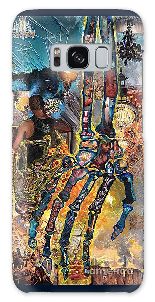 Electricity Hand La Mano Poderosa Galaxy Case by Emily McLaughlin