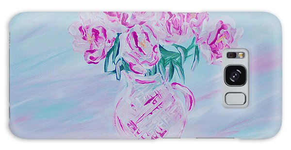 Elegant Bouquet Of Peonies. Joyful Gift. Thank You Collection Galaxy Case