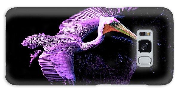 Elegant Flight In Violet Galaxy Case