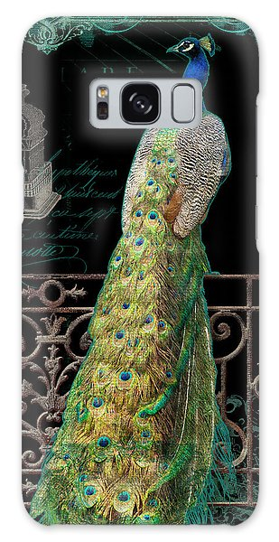 Elegant Peacock Iron Fence W Vintage Scrolls 4 Galaxy Case