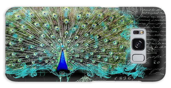 Elegant Peacock W Vintage Scrolls 3 Galaxy S8 Case
