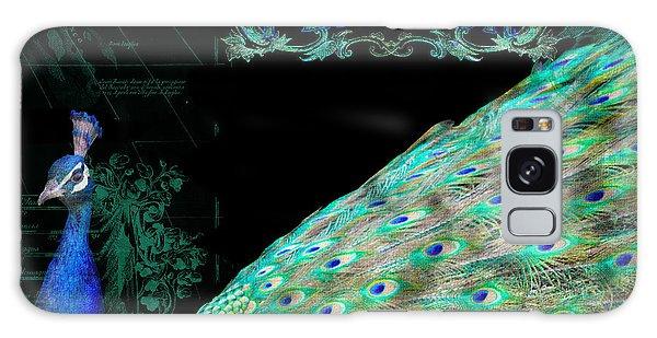 Elegant Peacock W Vintage Scrolls Typography 4 Galaxy S8 Case