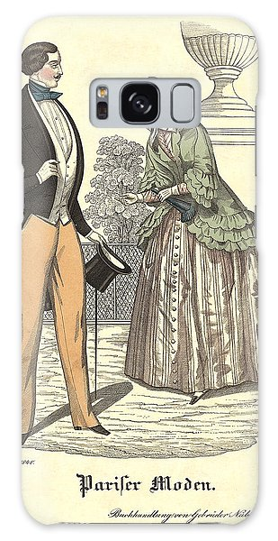 Fashion Plate Galaxy Case - Elegant Vintage Biedermeier Fashion by Village Antiques