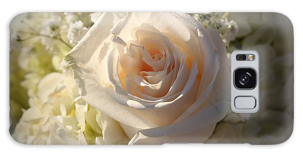 Elegant White Roses Galaxy Case by Cynthia Guinn