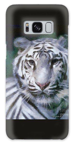 Elegant White Tiger Galaxy Case by Elizabeth Coats