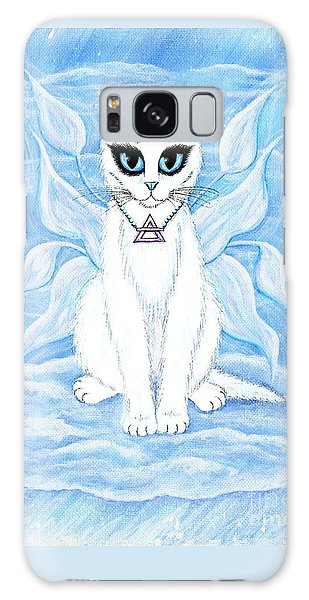 Elemental Air Fairy Cat Galaxy Case by Carrie Hawks
