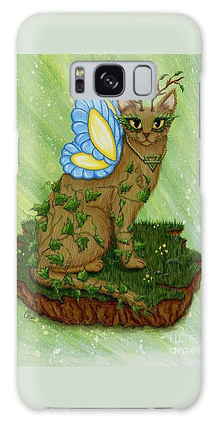 Elemental Earth Fairy Cat Galaxy Case by Carrie Hawks