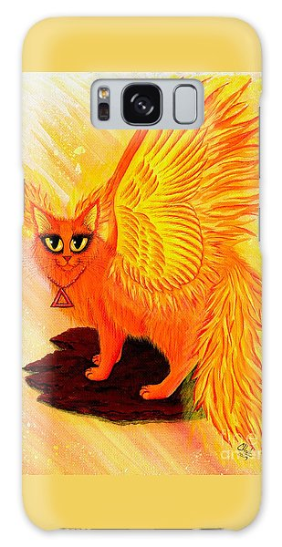 Elemental Fire Fairy Cat Galaxy Case by Carrie Hawks
