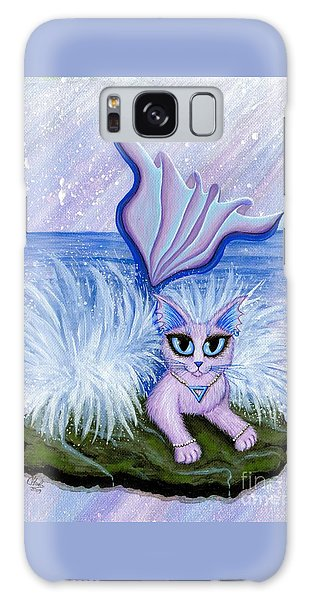Elemental Water Mermaid Cat Galaxy Case by Carrie Hawks