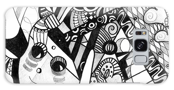 Organic Abstraction Galaxy Case - Elements At Play by Helena Tiainen