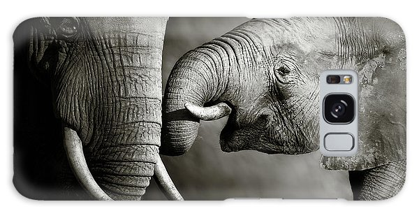Color Galaxy Case - Elephant Affection by Johan Swanepoel