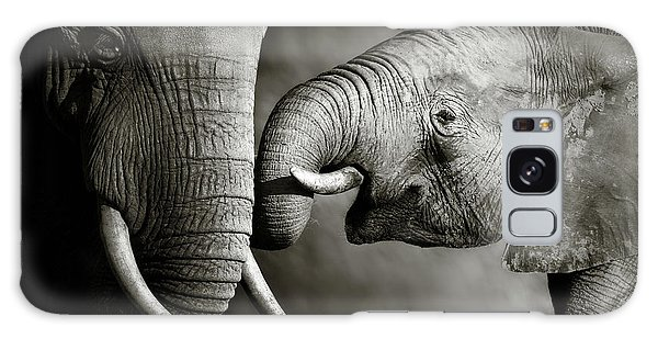 Wildlife Galaxy Case - Elephant Affection by Johan Swanepoel