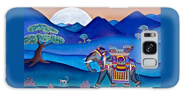 Elephant And Monkey Stroll Galaxy Case by Lori Miller