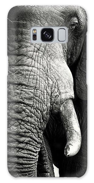 Close Up Galaxy Case - Elephant Close-up Portrait by Johan Swanepoel