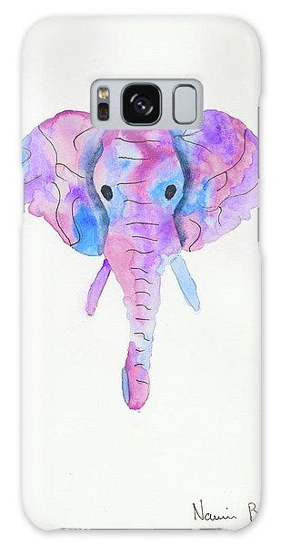 Elephant Head In Watercolour  Galaxy Case