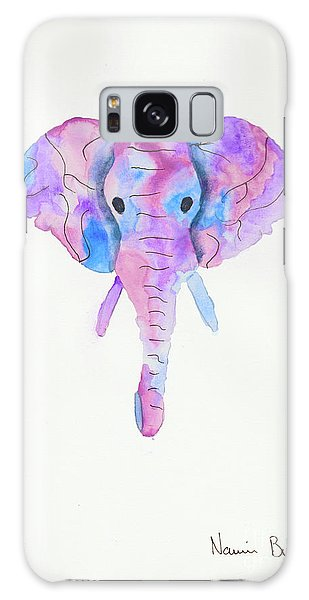 Elephant Head In Watercolour  Galaxy Case
