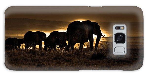 Elephant Herd On The Masai Mara Galaxy Case