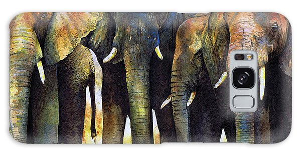 Elephant Herd Galaxy Case