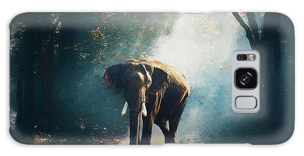 Elephant In The Mist - Painting Galaxy Case