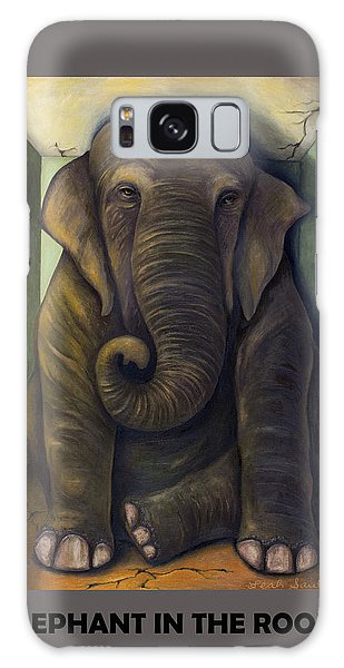 Elephant In The Room With Lettering Galaxy Case