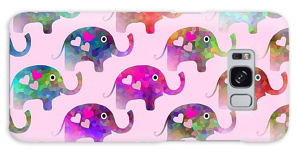 Elephant Party Galaxy Case by Kathleen Sartoris