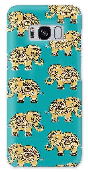 Elephant Pattern Galaxy Case
