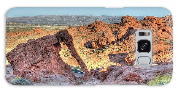 Elephant Rock - Hdr - Valley Of Fire Galaxy Case by Don Mennig