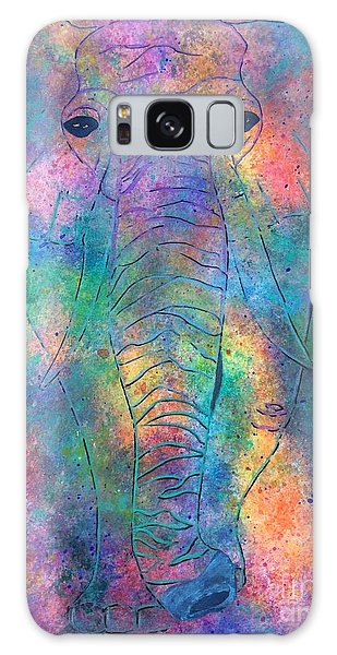Galaxy Case featuring the painting Elephant Spirit by Denise Tomasura