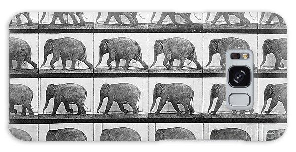 Elephant Walking Galaxy Case by Eadweard Muybridge