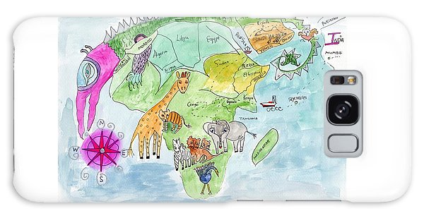 Elephoot's Map Of Africa Galaxy Case