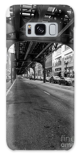 Elevated Train Track The Loop In Chicago, Il Galaxy Case